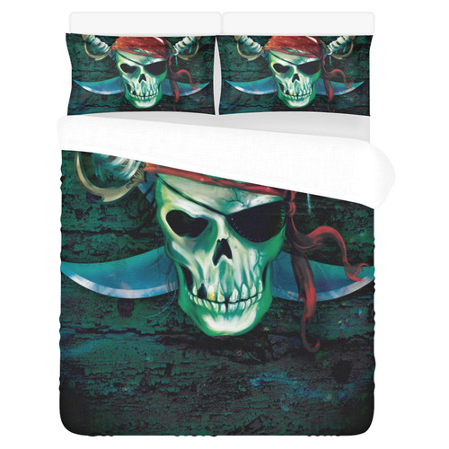 Pirate skull 3-Piece Bedding Set
