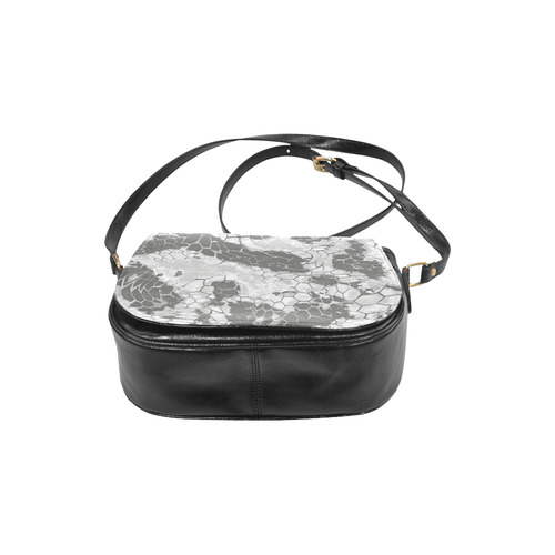 gray snake scales animal skin design camouflage Classic Saddle Bag/Small (Model 1648)