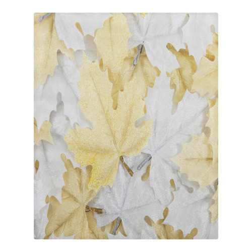 Gold And White Leaves 3-Piece Bedding Set