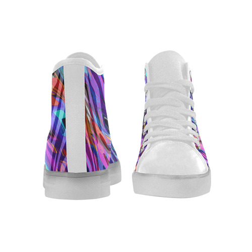 LED Light Up Sneakers Stripe Colors Custom Light Up Women's Shoes (Model 045)