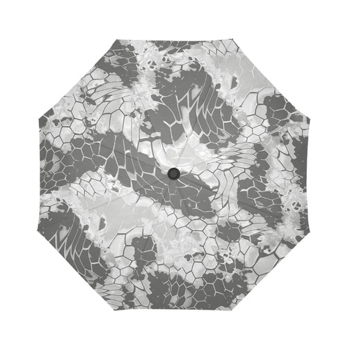 gray snake scales animal skin design camouflage Auto-Foldable Umbrella (Model U04)