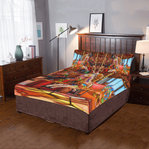 Take A Ride On The Merry-go-round 3-Piece Bedding Set