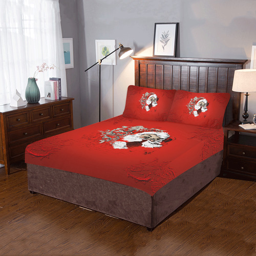 Christmas time, Santa Claus 3-Piece Bedding Set