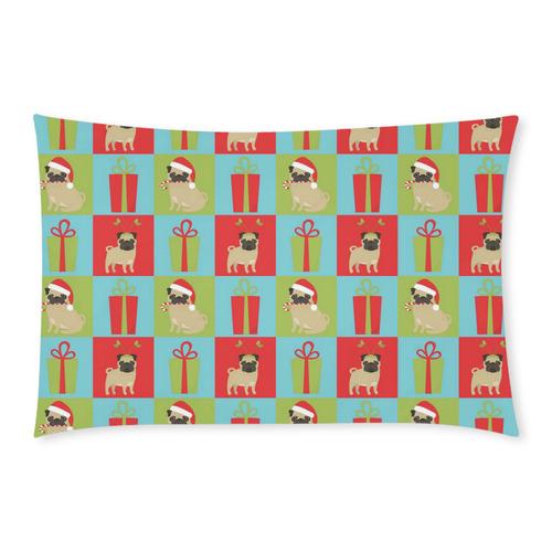 Christmas Pugs and Presents 3-Piece Bedding Set