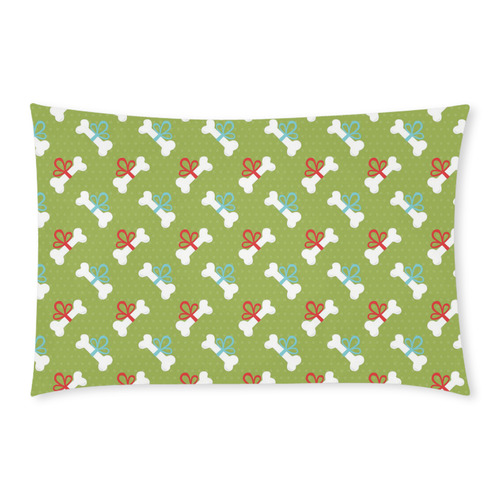 Christmas Dog Bones - Green 3-Piece Bedding Set
