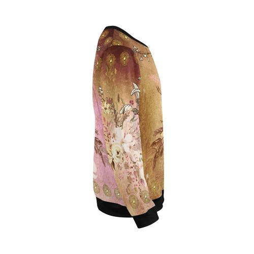 Wonderful floral design, vintage All Over Print Crewneck Sweatshirt for Men/Large (Model H18)