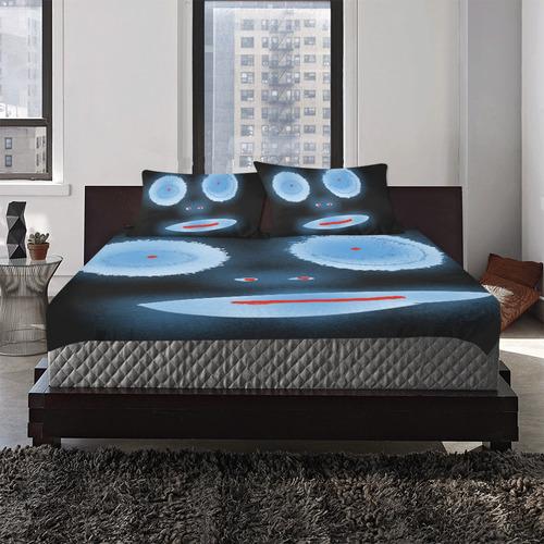 Face 3-Piece Bedding Set