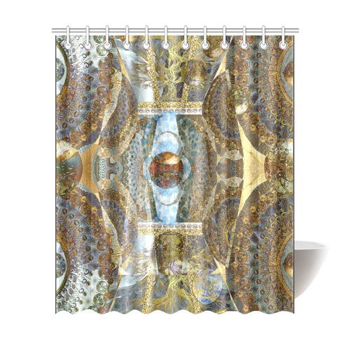 "Fantaisy 2- gold- Shower Curtain 72""x84"""