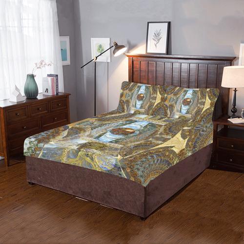 Fantaisy 2- gold- 3-Piece Bedding Set