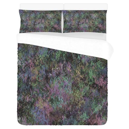 Pastel Painted Grunge 3-Piece Bedding Set