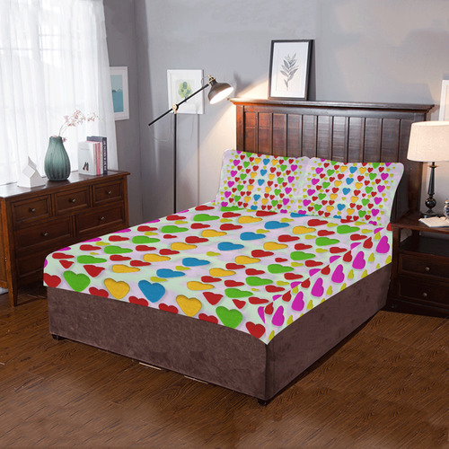 So sweet and hearty as love can be 3-Piece Bedding Set