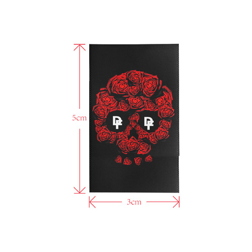 DF Rose Skull Logo Private Brand Tag on Window Curtain (3cm X 5cm)