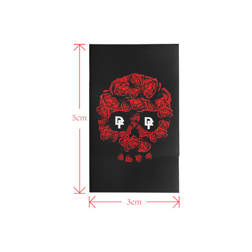 DF Rose Skull Logo Private Brand Tag on Shower Curtain (3cm X 5cm)