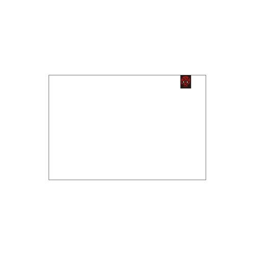 DF Rose Skull Logo Private Brand Tag on Tablecloth (4cm X 5cm)