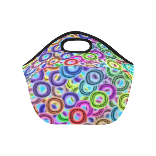 Colorful ovals Neoprene Lunch Bag/Small (Model 1669)