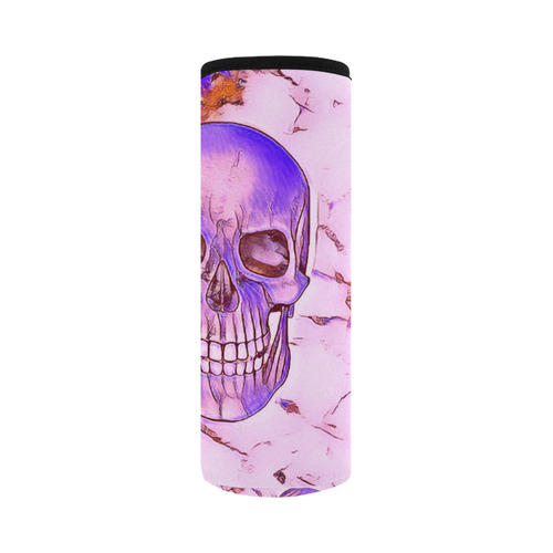 funny Color Skull C by JamColors Neoprene Water Bottle Pouch/Large