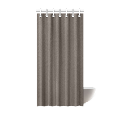 Camo Color Solid Brown Shower Curtain 36x72