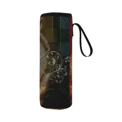 Awesome creepy skulls Neoprene Water Bottle Pouch/Large