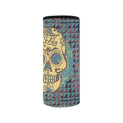Trendy Skull 5171B by JamColors Neoprene Water Bottle Pouch/Medium
