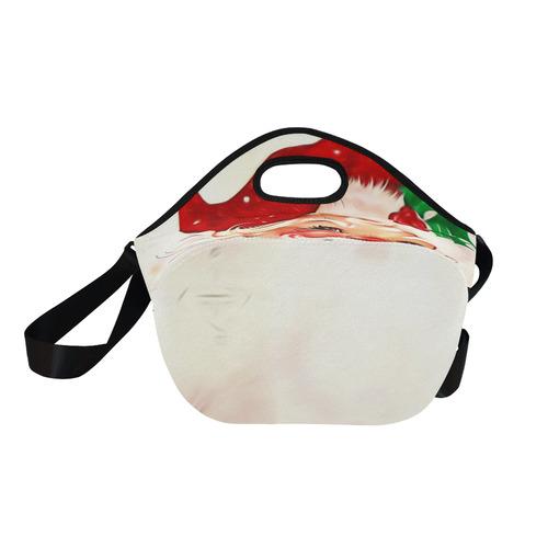 A cute vintage Santa Claus with a mistletoe Neoprene Lunch Bag/Large (Model 1669)