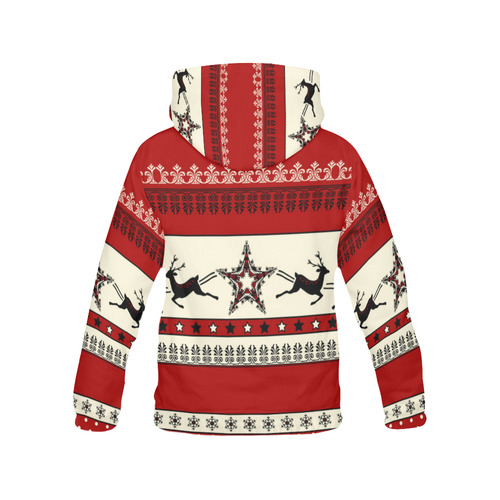 Christmas Ornaments Pattern I All Over Print Hoodie for Women (USA Size) (Model H13)
