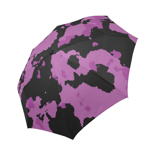 purple camouflage Auto-Foldable Umbrella (Model U04)