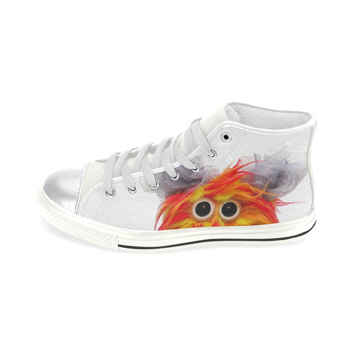 Cluck Cluck & Twitchy Women's Classic High Top Canvas Shoes (Model 017)