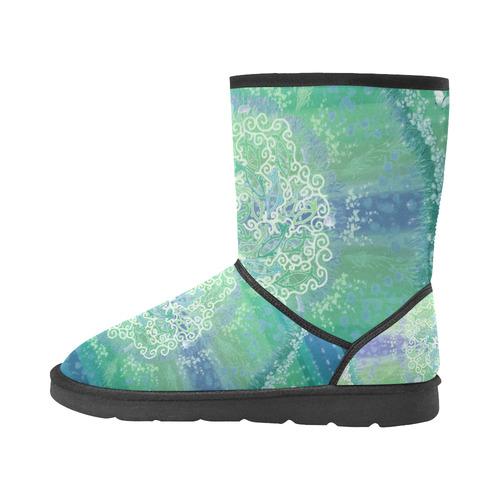 life power 5 Custom High Top Unisex Snow Boots (Model 047)