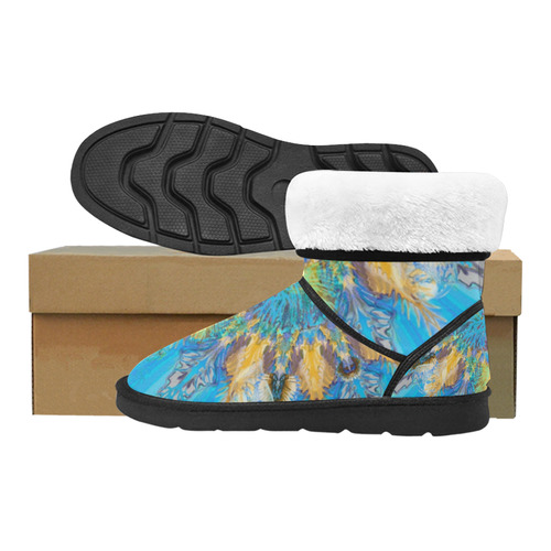 life colors 7v Custom High Top Unisex Snow Boots (Model 047)