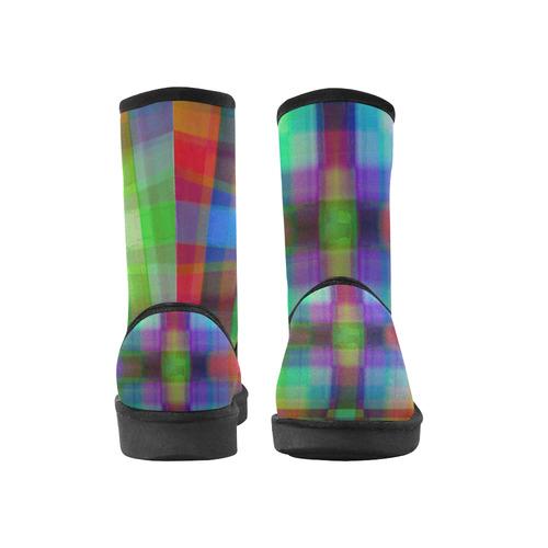 madras 2 Custom High Top Unisex Snow Boots (Model 047)
