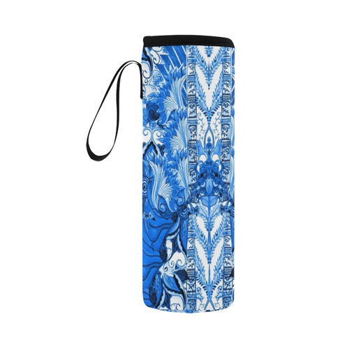love and prosperity 5 v Neoprene Water Bottle Pouch/Large