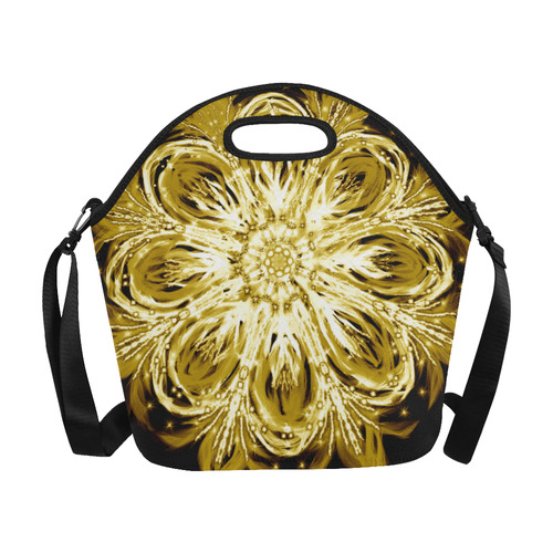 flower 10 Neoprene Lunch Bag/Large (Model 1669)
