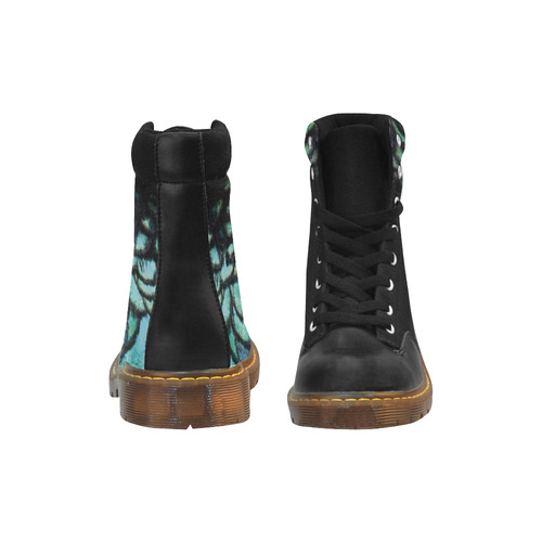 peacock Apache Round Toe Women's Winter Boots (Model 1402)