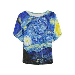 Women's Batwing-Sleeved Blouse T shirt (Model T44)