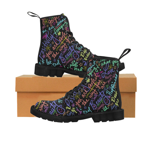 Positive Affirmations Martin Boots for Women (Black) (Model 1203H)