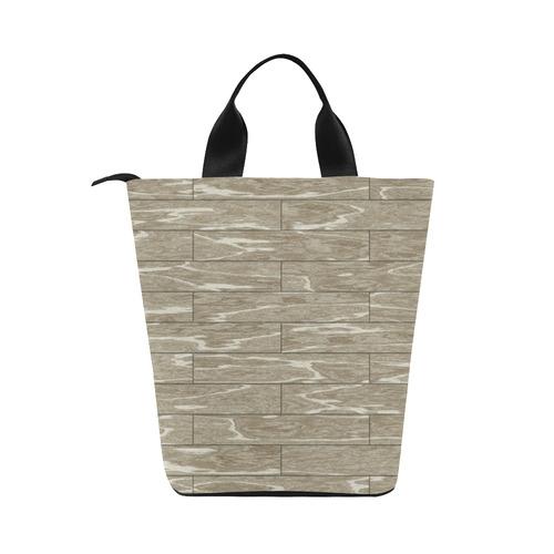 wooden floor 6 Nylon Lunch Tote Bag (Model 1670)