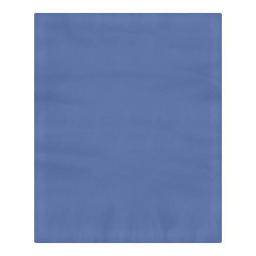 Designer Color Solid Wedgewood Blue 3-Piece Bedding Set