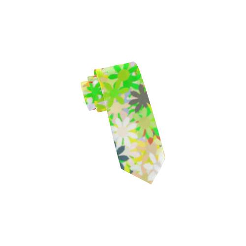 Flowers Pattern by Nico Bielow Classic Necktie (Two Sides)
