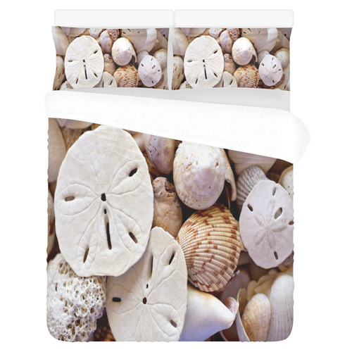 Seashells And Sand Dollars 3-Piece Bedding Set