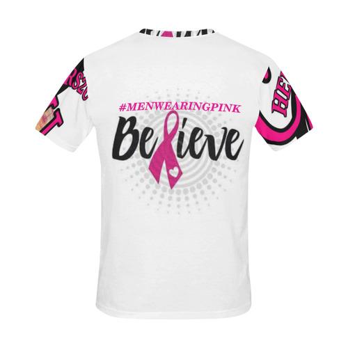 BELIEVESUPPORTMEN All Over Print T-Shirt for Men (USA Size) (Model T40)