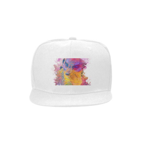 Painterly Animal - Meerkat by JamColors Unisex Snapback Hat