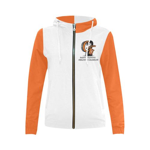 ORANGESTAYINGFLY All Over Print Full Zip Hoodie for Women (Model H14)