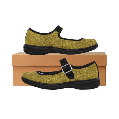 ec47d6914 Gold Glitter Mila Satin Women's Mary Jane Shoes (Model 4808) | ID: D2066297