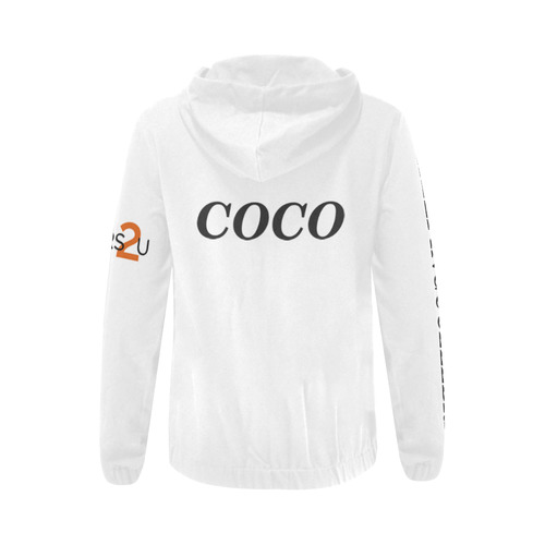 logo c2u COURTNEY All Over Print Full Zip Hoodie for Women (Model H14)