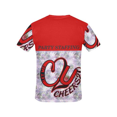 REDLOGO2 All Over Print T-Shirt for Women (USA Size) (Model T40)