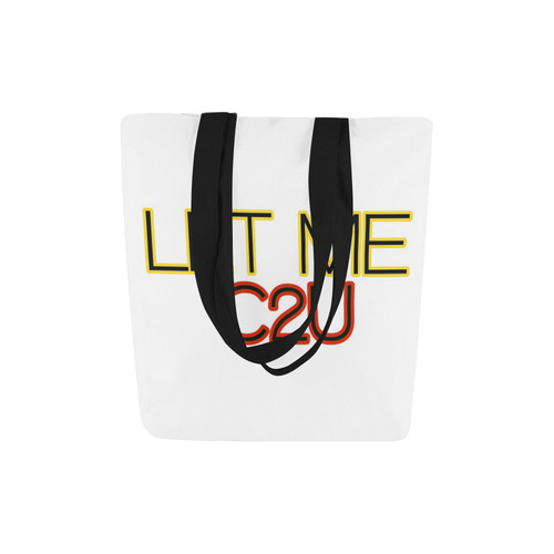 LET ME C2U Canvas Tote Bag (Model 1657)