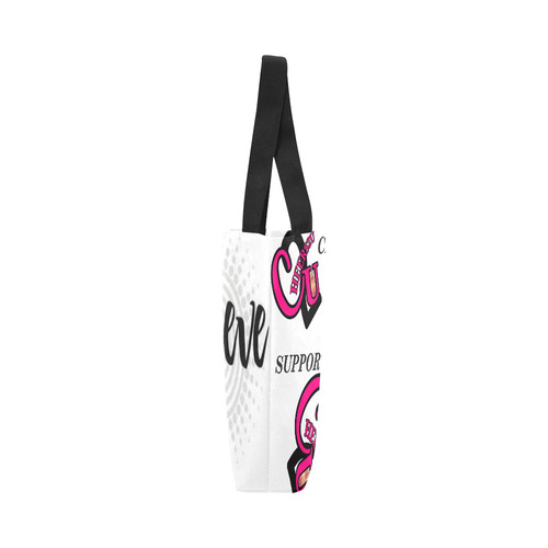 whit big pink logo Canvas Tote Bag (Model 1657)