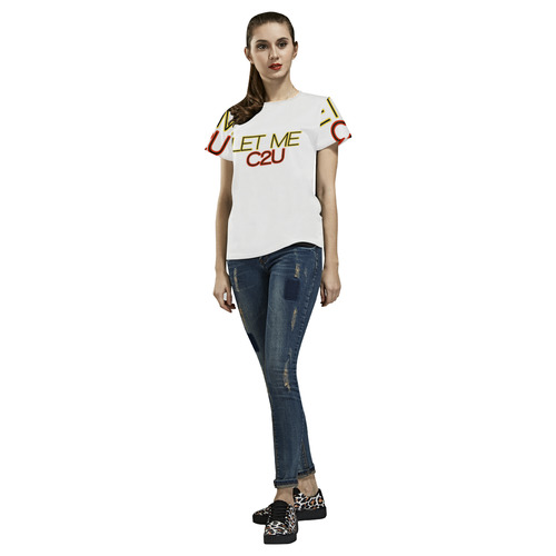 let me c2u All Over Print T-Shirt for Women (USA Size) (Model T40)