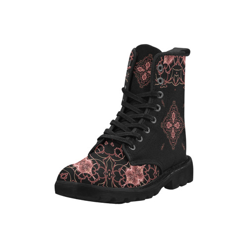BOOTS 1 - ROMANTIC WINTER - Designs by Indira - Martin Boots for Women (Black) (Model 1203H)