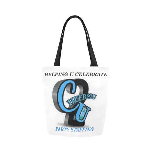 blue logo Canvas Tote Bag (Model 1657)